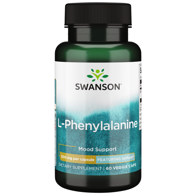 Swanson UltraAjiPure L-Phenylalanine, Pharmaceutical Grade