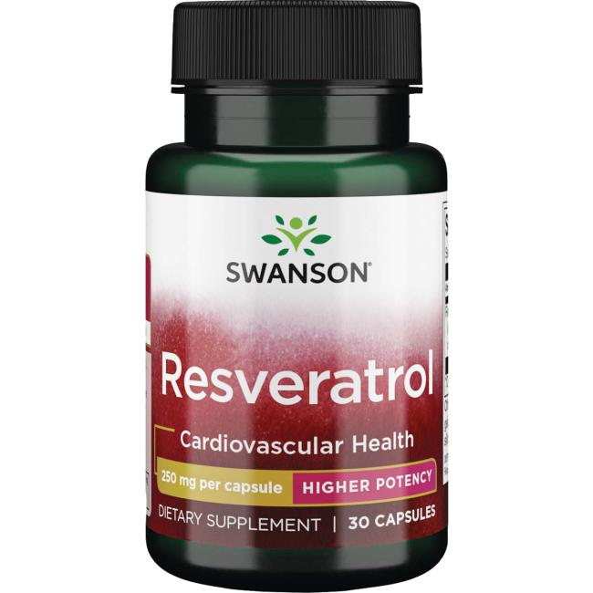 Resveratrol 250 Mg Supplement Swanson Health Products