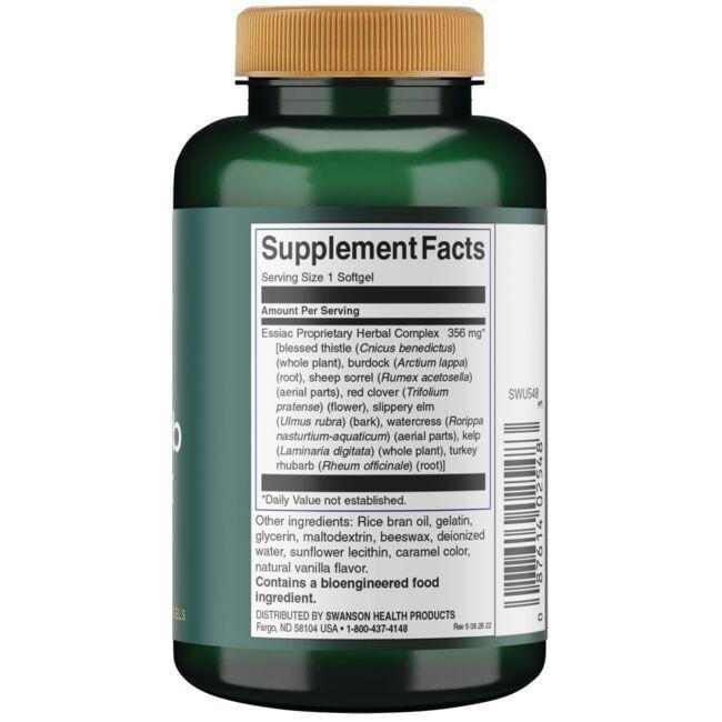 Swanson UltraEssiac Eight Herb Proprietary Blend Close Up