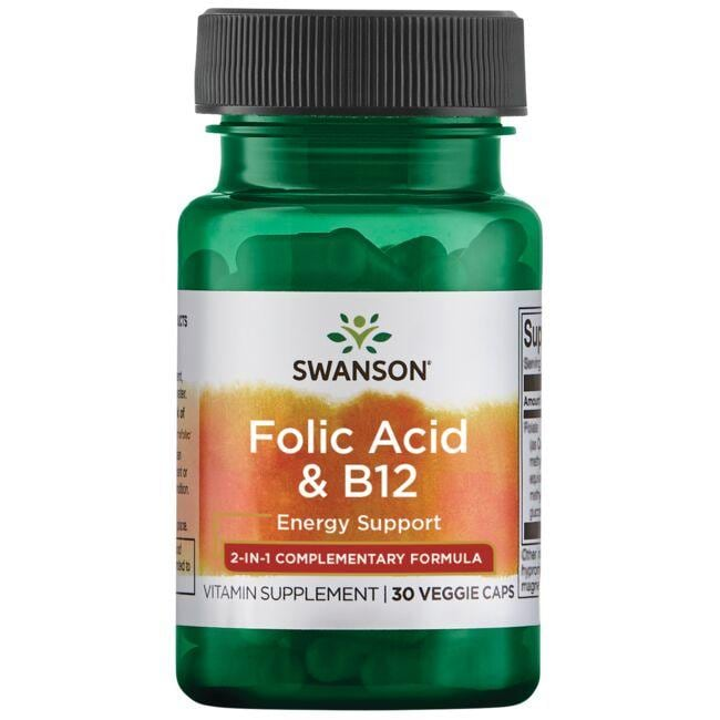 Swanson Ultra Folic Acid & B12