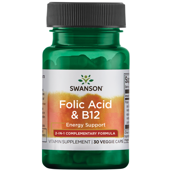 Swanson UltraFolic Acid & B-12