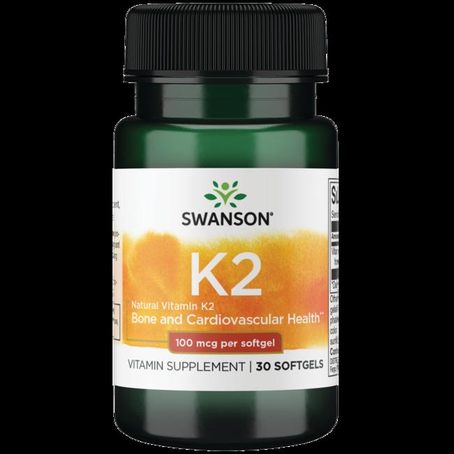 Swanson Ultra Vitamina K-2 natural de alta potencia (menaquinona-7 de natt