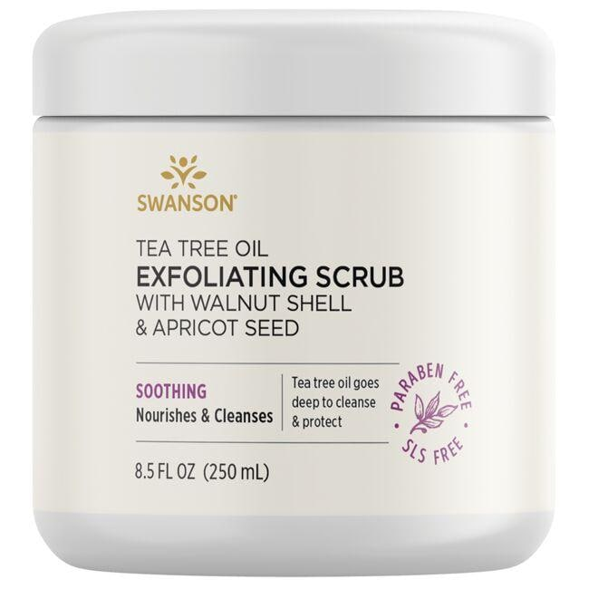 Swanson UltraTea Tree Oil Exfoliating Scrub with Walnut Shell & Apricot Seed