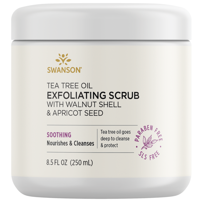 Swanson Ultra Tea Tree Oil Exfoliating Scrub