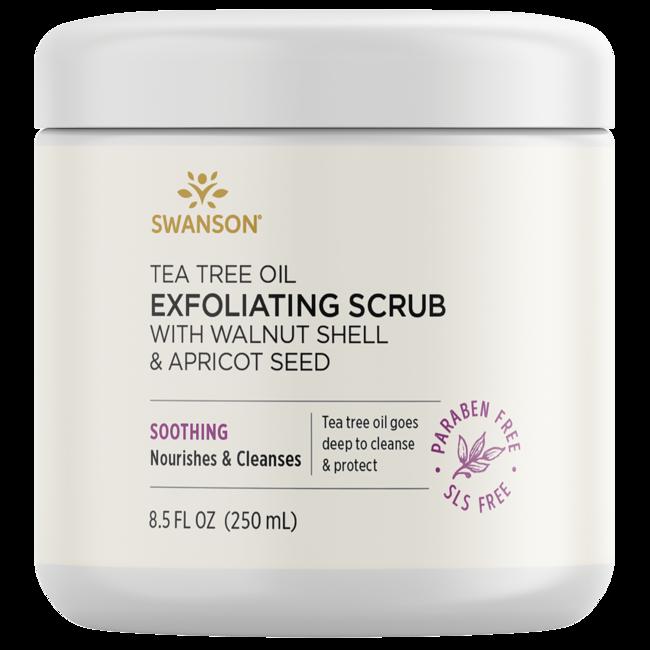Swanson Ultra Tea Tree Oil Exfoliating Scrub