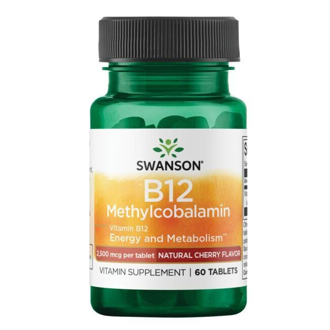Swanson Ultra Vitamin B12 Methylcobalamin - Natural Cherry Flavored