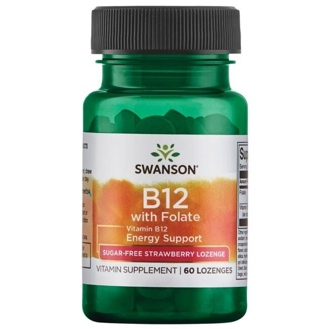 Swanson Ultra Vitamin B12 with Folate - Strawberry