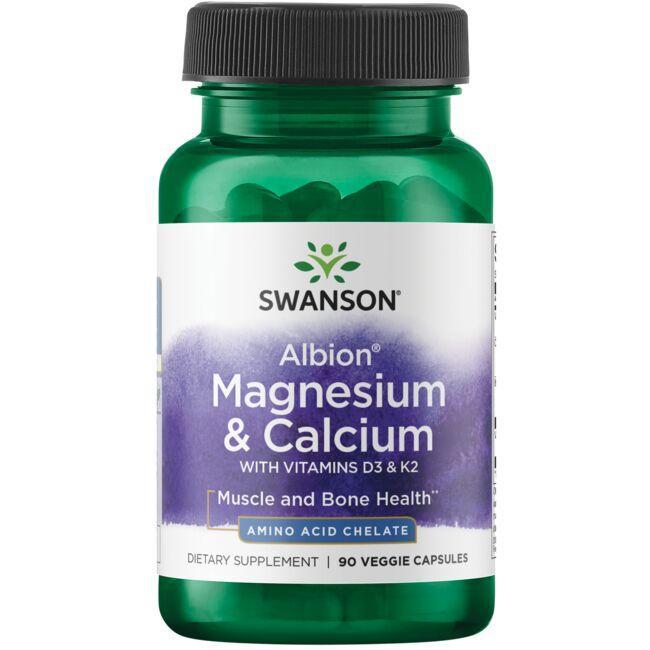 Swanson UltraAlbion Magnesium & Calcium with Vitamins D3 & K2