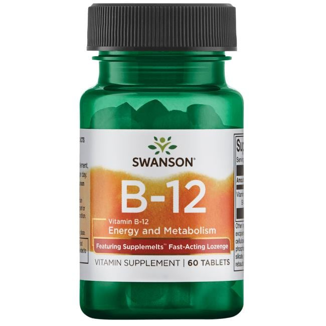 Swanson Ultra Vitamin B-12 Supplemelts