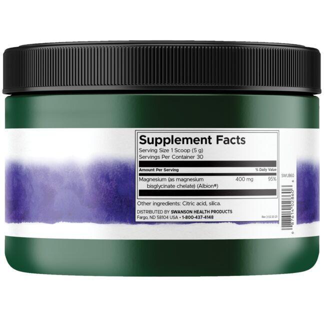 Swanson UltraMagnesium Glycinate Powder Close Up