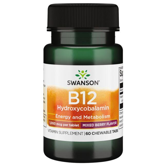 Swanson Ultra Vitamin B12 Hydroxycobalamin - Mixed Berry Flavor