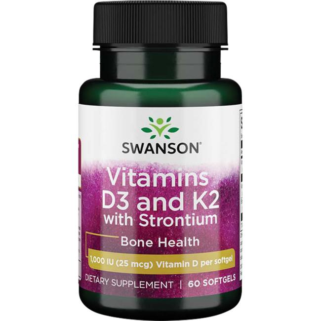 Swanson UltraStrontium Complex with Vitamins D-3 & K-2