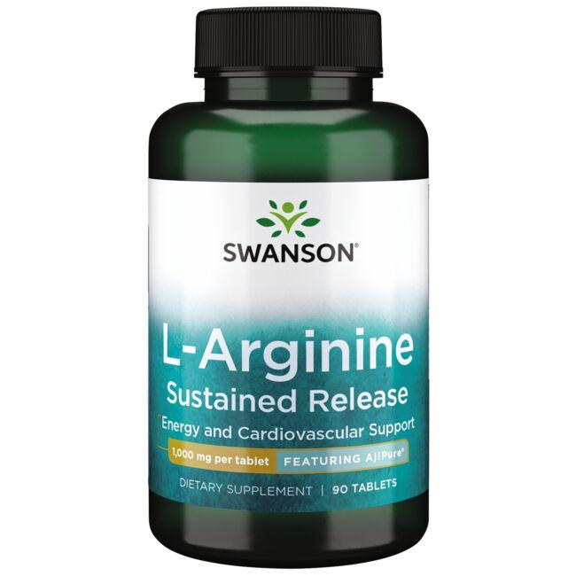 Swanson Ultra L-Arginine Sustained Release - Featuring AjiPure