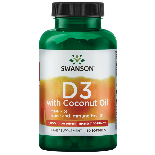 Swanson UltraHigh Potency Vitamin D-3 with Coconut