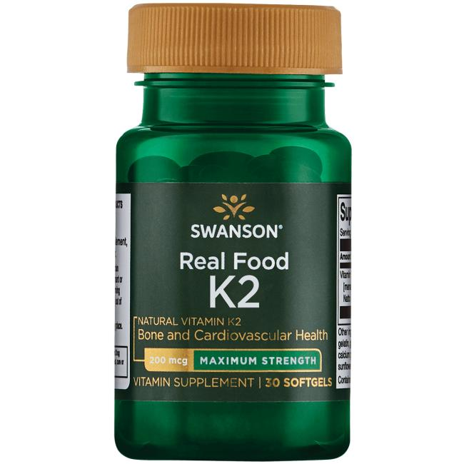Swanson Ultra Real Food Vitamin K2 - Maximum Strength