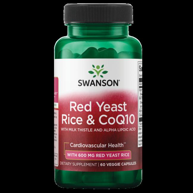 Swanson Red Yeast Rice & Coq10 - Traditional Formula 60 Veg