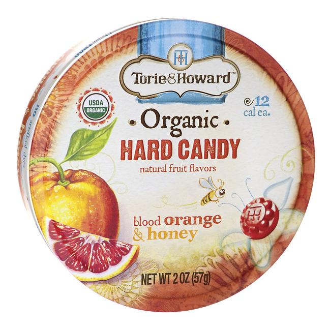 Torie & Howard Organic Hard Candy - Blood Orange & Honey