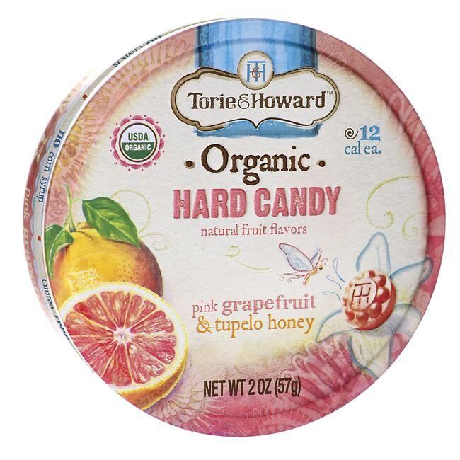Torie & Howard Organic Hard Candy - Pink Grapefruit & Tupelo Honey