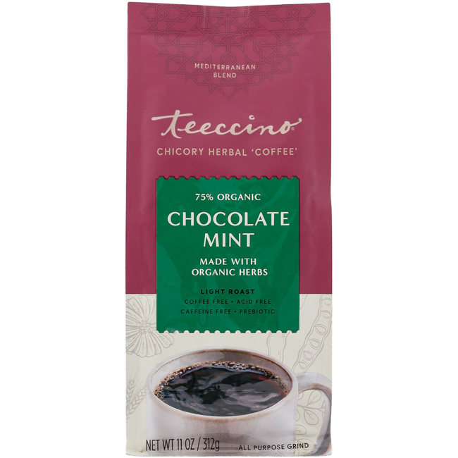 Teeccino Mediterranean Herbal Coffee - Chocolate Mint