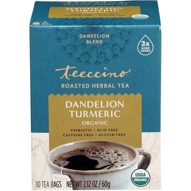 Teeccino Roasted Herbal Tea - Dandelion Turmeric