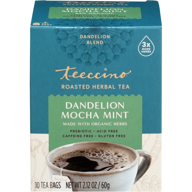 TeeccinoChicory Herbal Tea - Dandelion Mocha Mint