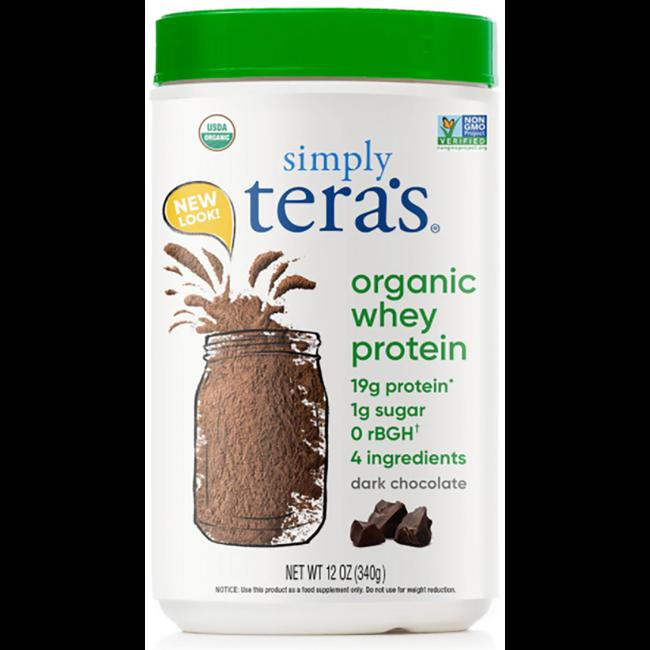 Tera's WheyGrass Fed Organic Whey Protein - Fair Trade Dark Chocol