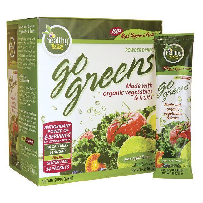 To Go BrandsGo Greens Powder Drink Mix - Green Apple Flavor
