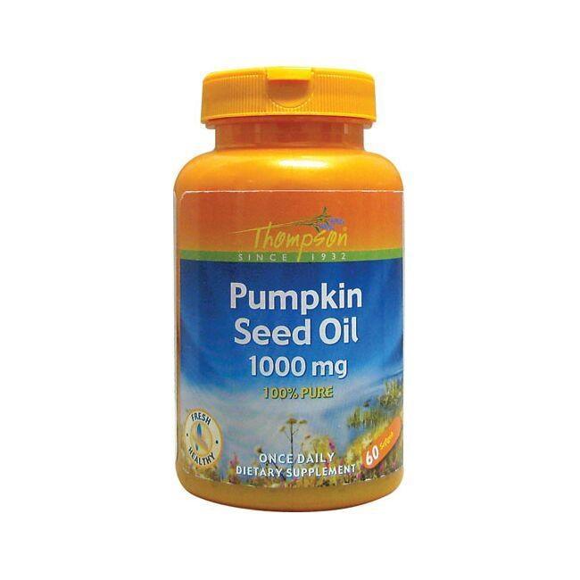 Thompson Pumpkin Seed Oil 1000 mg 60 Soft Gels Essential Fatty Acids