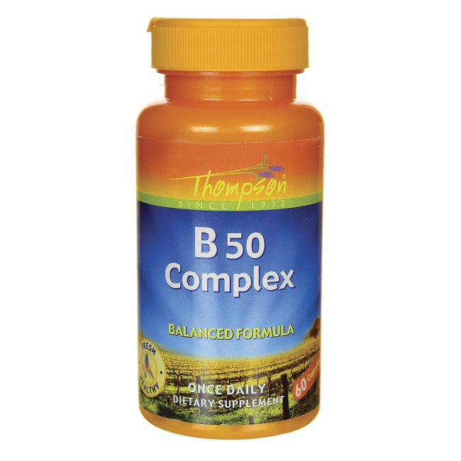 Vitamin B Complex 50 60 Caps by Thompson Nutritional Product