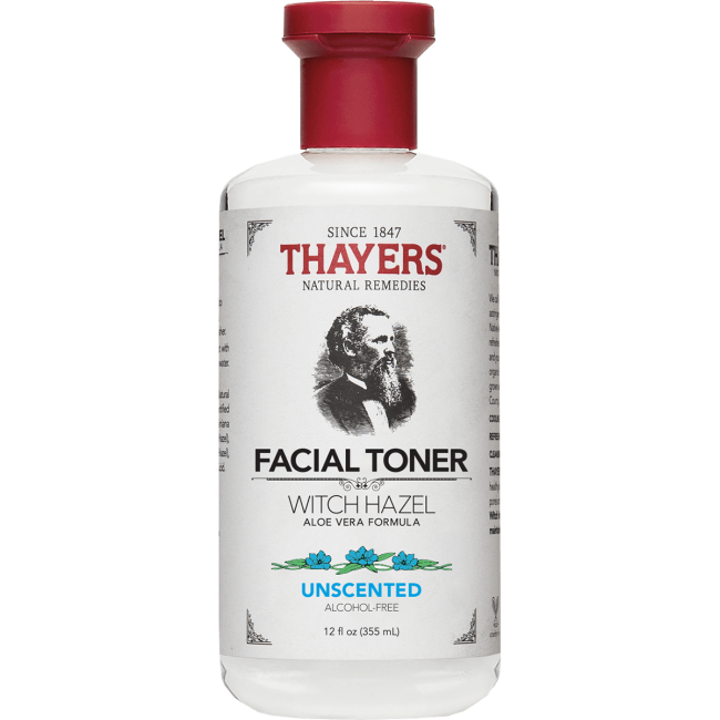 Thayers Natural Remedies Unscented Witch Hazel with Aloe Vera