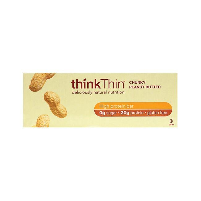 Think ThinProtein Bars - Chunky Peanut Butter