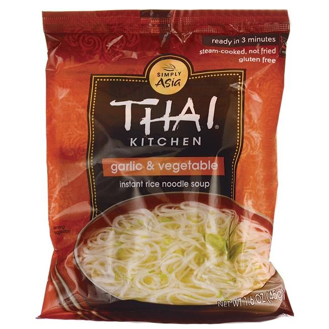 Thai Kitchen Instant Rice Noodle Soup Garlic Vegetable 1 6 Oz 45 Grams Pkg Swanson Health