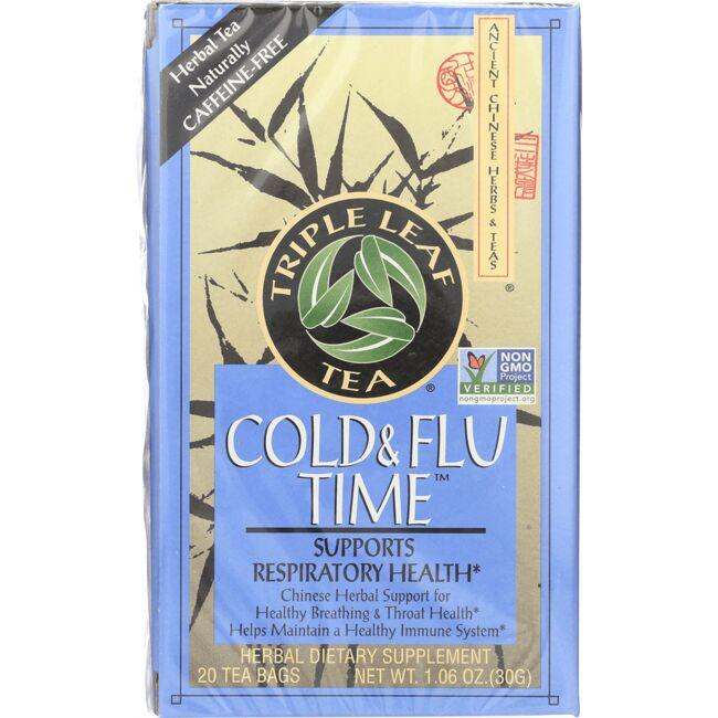 Triple Leaf TeaCold & Flu Time Tea Caffeine Free