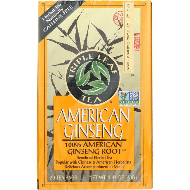 Triple Leaf TeaAmerican Ginseng Tea Caffeine Free