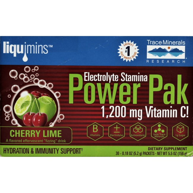 Trace Minerals Electrolyte Stamina Power Pak - Cherry Limeade