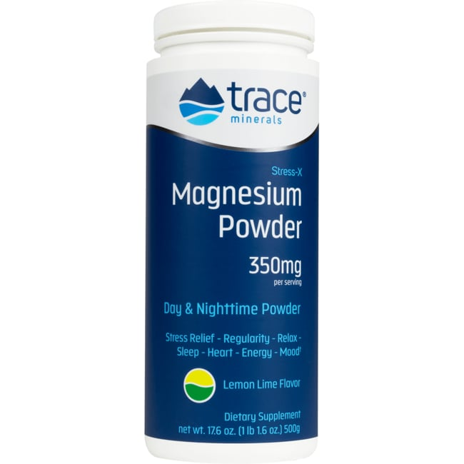 Trace Minerals Stress-X Magnesium Powder - Lemon Lime