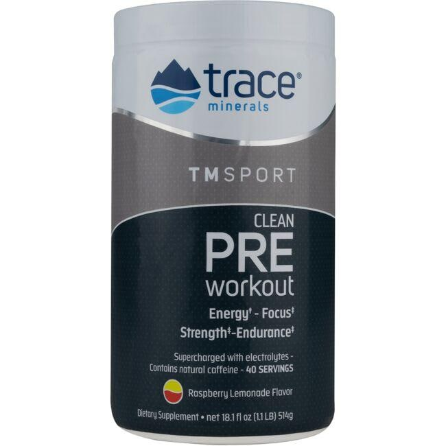 Trace Minerals Clean Pre Workout - Raspberry Lemonade