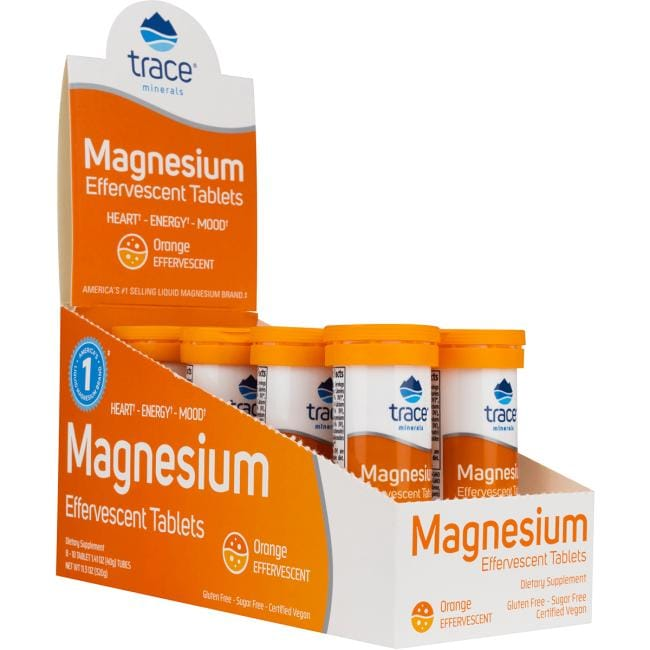 Trace Minerals Magnesium Effervescent Tablets - Orange