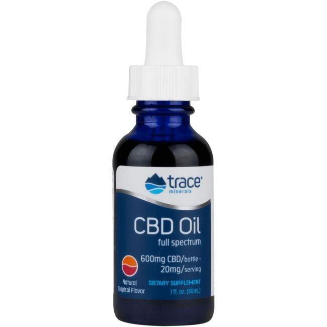 Trace MineralsCBD Full Spectrum Oil - Natural Tropical