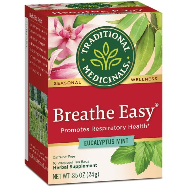 Traditional Medicinals Breathe Easy Tea - Eucalyptus Mint