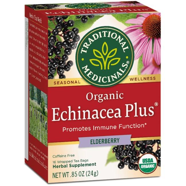 Traditional Medicinals Té de baya de saúco Organic Echinacea Plus