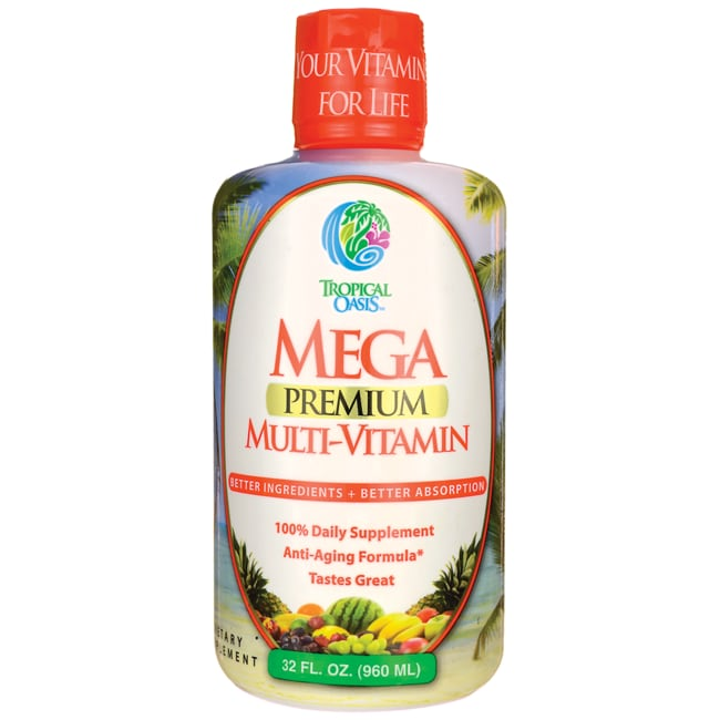 Tropical Oasis Mega Multiple Vitamin Mineral Tropical Plus