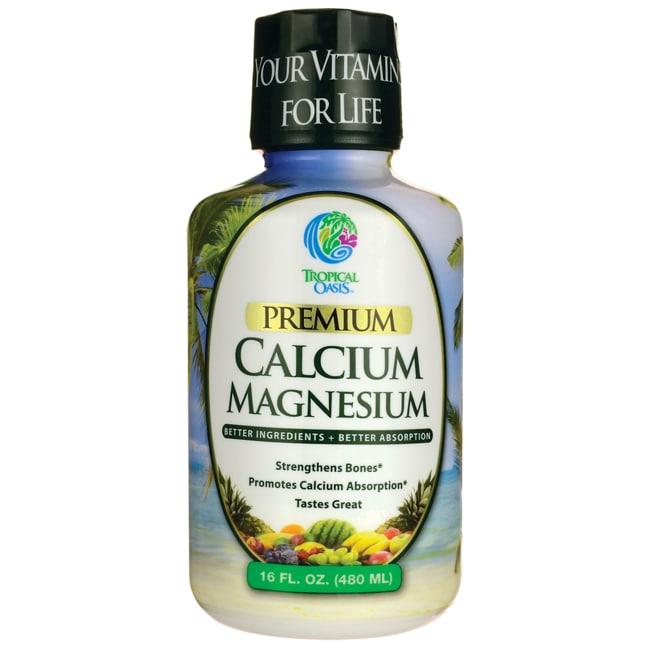 Tropical Oasis Liquid Calcium Magnesium - Orange Flavor