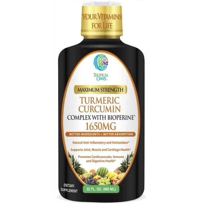 Tropical Oasis Maximum Strength 1650mg Turmeric Curcumin Bio