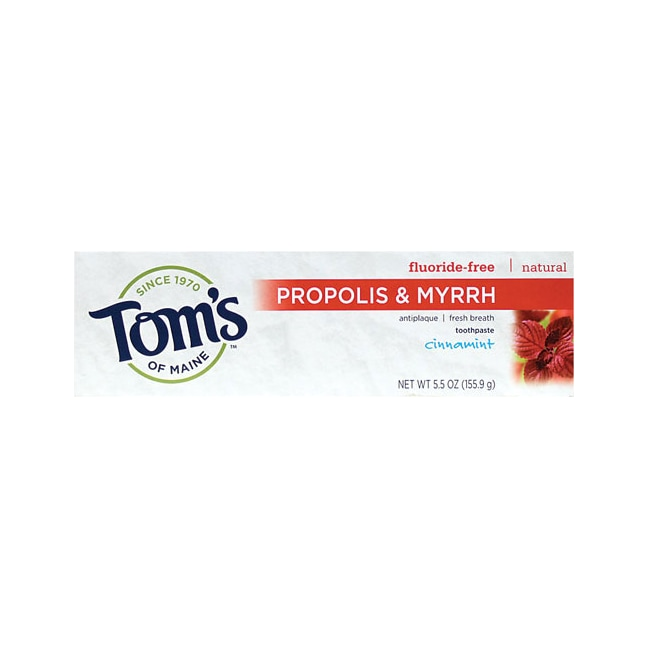 Tom's of Maine Antiplaque Toothpaste w/ Propolis & Myrrh - Cinnamint
