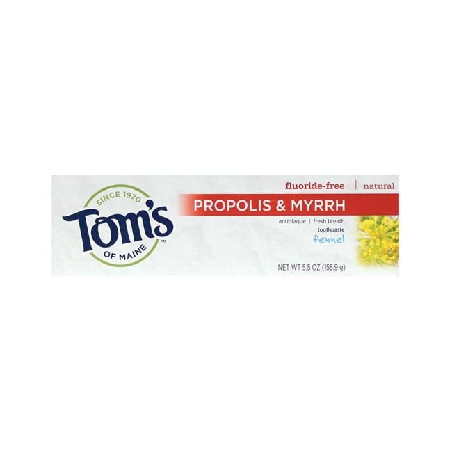 Tom's of Maine Antiplaque Toothpaste with Propolis & Myrrh - Fennel