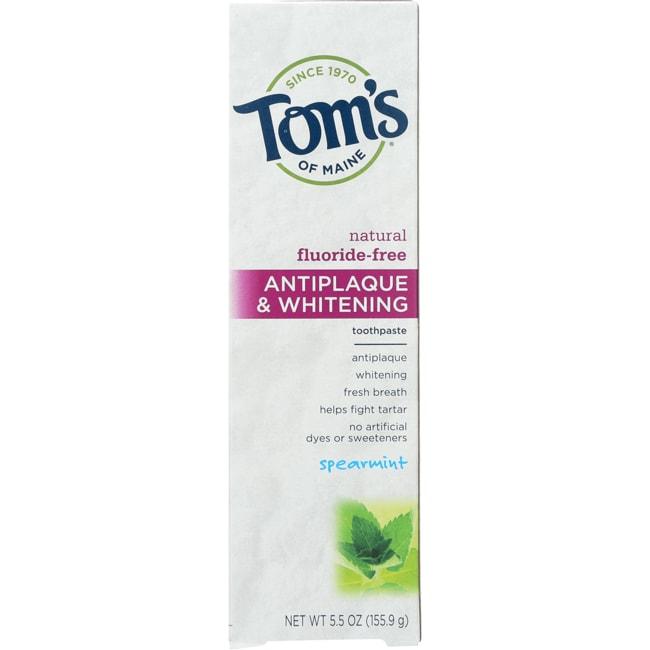 Tom's of Maine Spearmint Antiplaque & Whitening Toothpaste