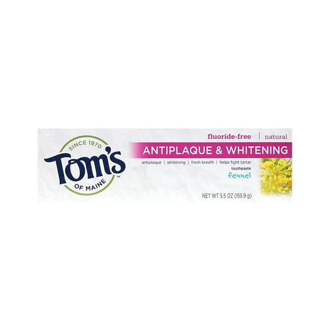 Tom's of MaineAntiplaque Tartar Control plus Whitening Toothpaste Fennel