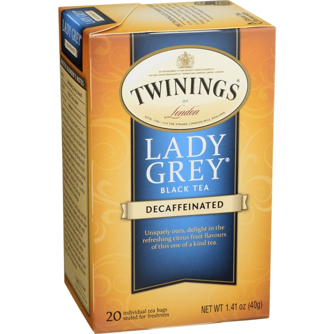 TwiningsClassics Lady Grey Tea Naturally Decaffeinated