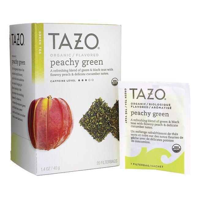 Tazo TeaGreen Tea - Organic Peachy Green
